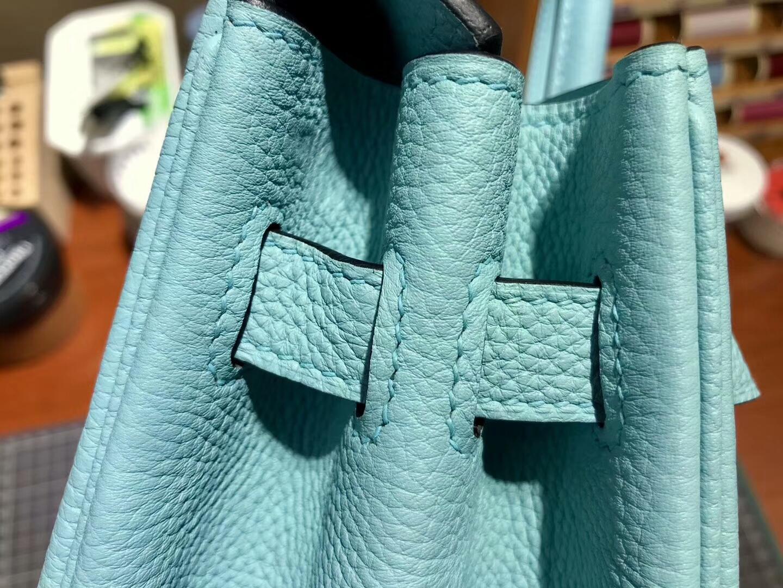 爱马仕 HERMES 铂金包 Birkin 30cm 配全套专柜原版包装 全球发售 3Z圣西尔蓝BlueSaint-Cyr