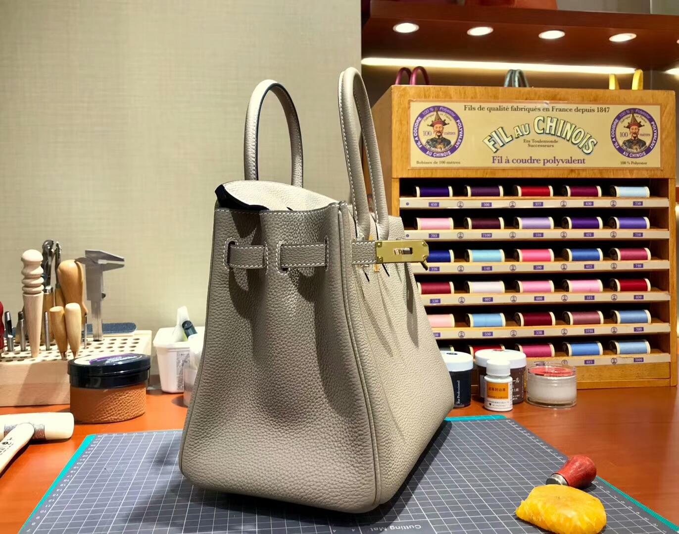 爱马仕 HERMES 铂金包 Birkin 30cm 配全套专柜原版包装 全球发售 8F锡器灰 Etain