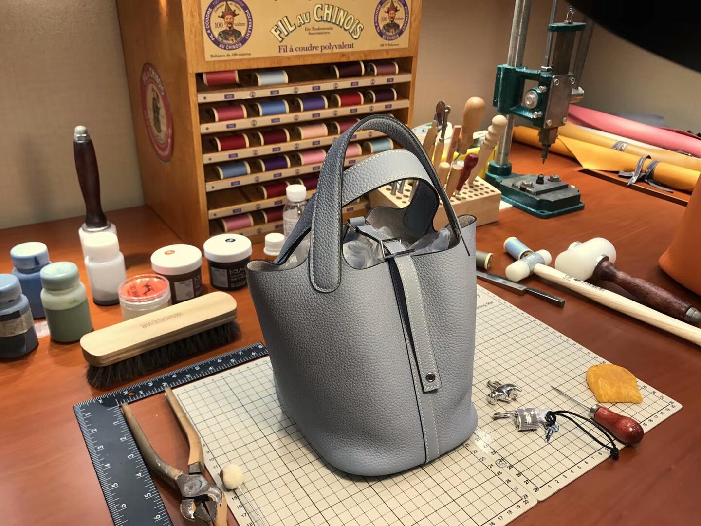 爱马仕 HERMES 菜篮子 Picotin 配全套专柜原版包装 全球发售8M巴黎银河灰 Gris paris