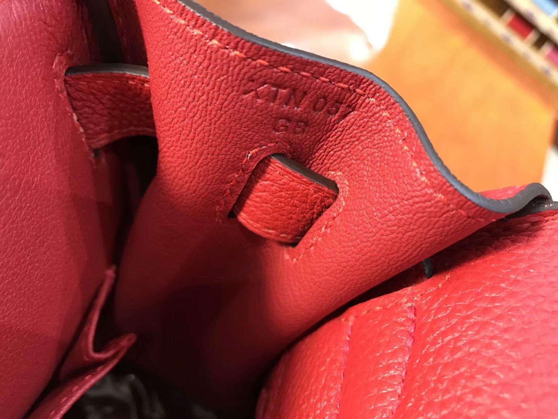 爱马仕HERMES Q5 國旗紅 Kelly 28CM Togo皮 纯手工蜡线 法国TR级别的进口皮料 配全套专柜包装发票