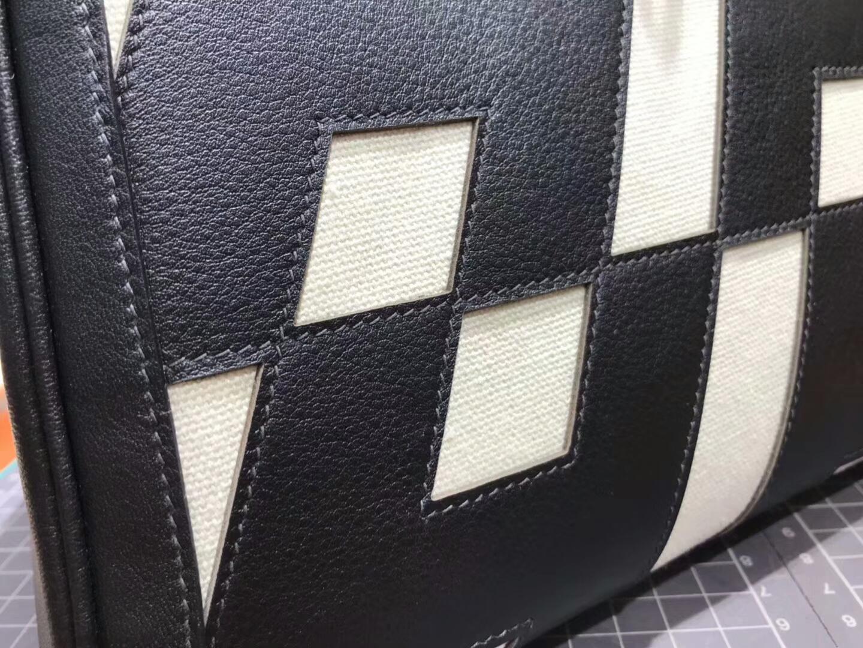 HERMES 爱马仕 Kelly 黑色 拼 纯白 现货系列 配全套专柜原版包装