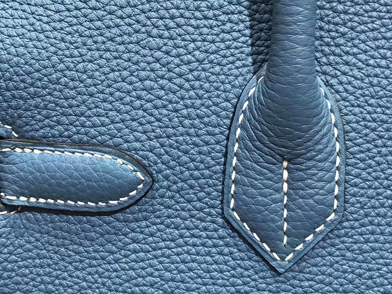 爱马仕 HERMES 铂金包 Birkin 30cm 配全套专柜原版包装 全球发售7W伊兹密尔蓝BlueIzmir