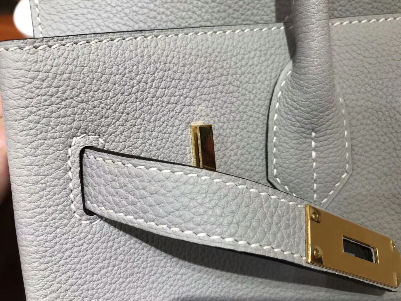 爱马仕 HERMES 铂金包 Birkin 30cm 配全套专柜原版包装 全球发售 海鸥灰 4z gris mouette