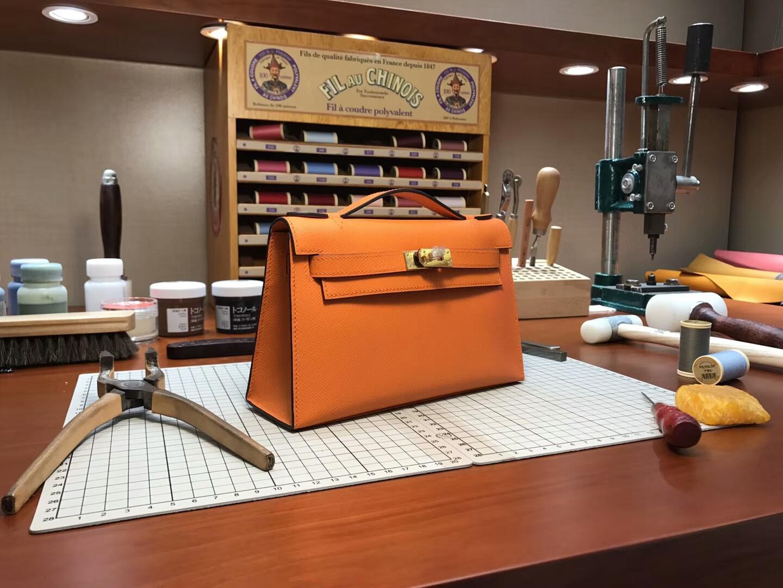 迷你凯莉 MiniKelly cc93orange橙色橘色 金扣 全球发售