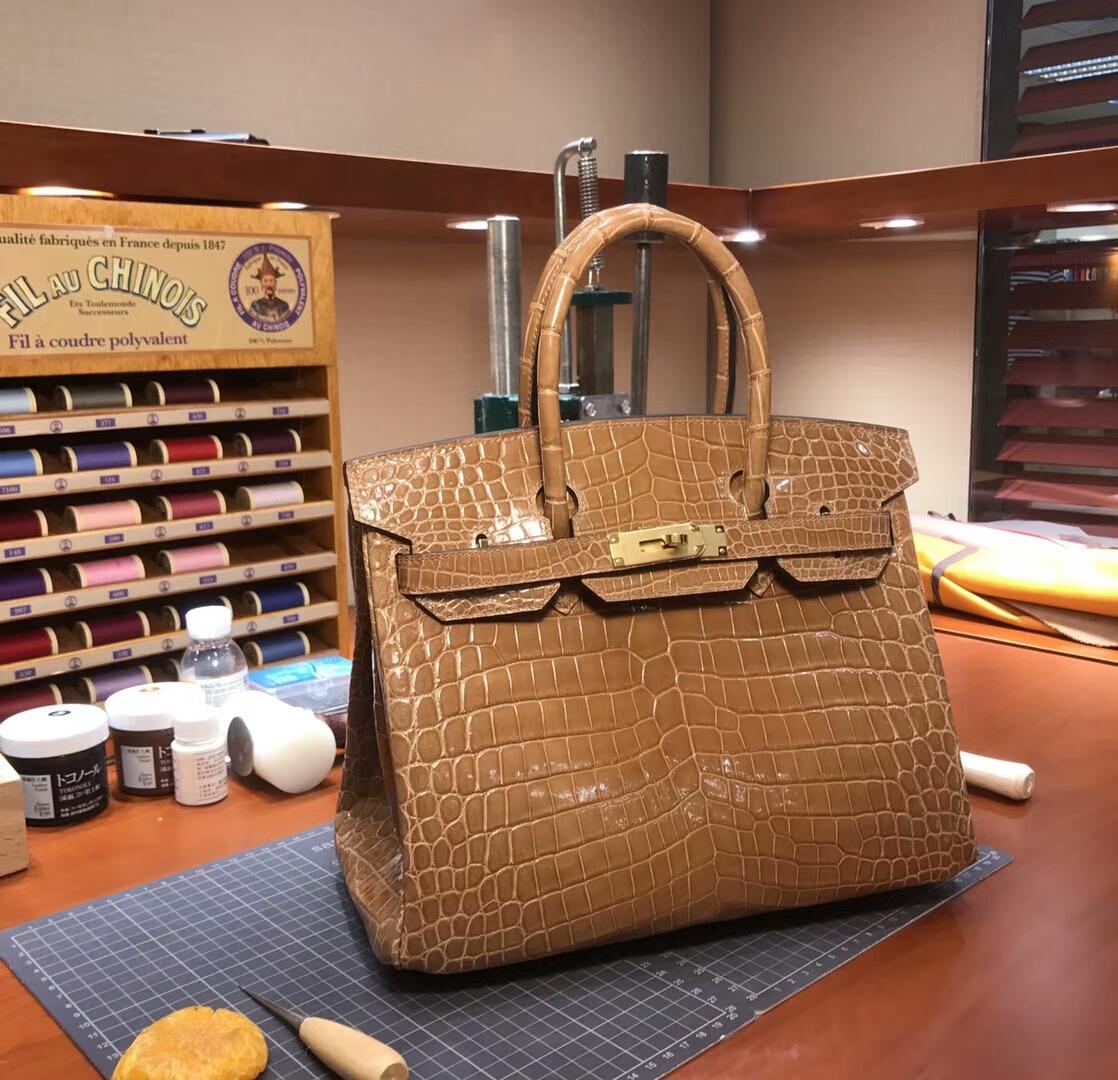 爱马仕 HERMES 铂金包 Birkin 配全套专柜原版包装 全球发售 CC14杏色Beige