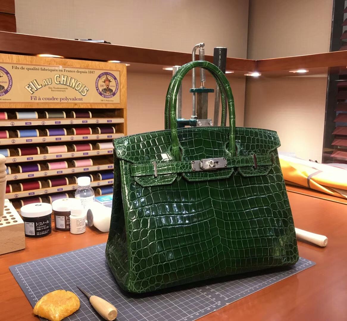 CK67VertFonce祖母绿 爱马仕 HERMES 铂金包 Birkin 配全套专柜原版包装 全球发售