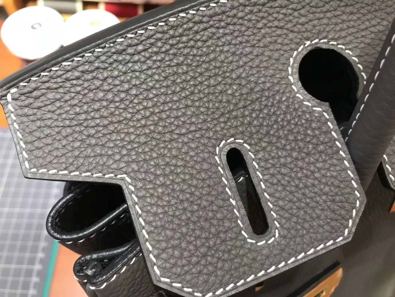 爱马仕 HERMES 铂金包 Birkin 30cm 配全套专柜原版包装 全球发售8M巴黎银河灰Grisparis