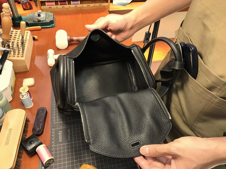 爱马仕 HERMES Lindy 26/30cm CK89 Noir 黑色  银扣 配全套专柜原版包装