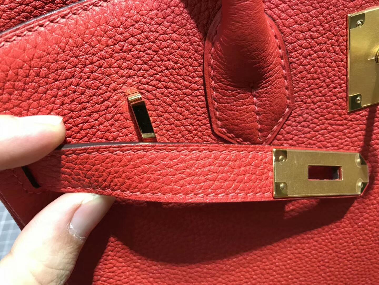 爱马仕 HERMES 铂金包 Birkin 30cm 配全套专柜原版包装 全球发售 95法拉利红 Rogue Braise