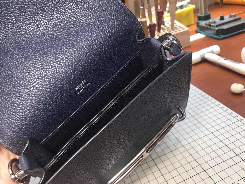 猪鼻子包 Roulis HERMES 爱马仕 cc88 石墨黑 石墨灰 黑灰色 graphite 配全套专柜原版包装
