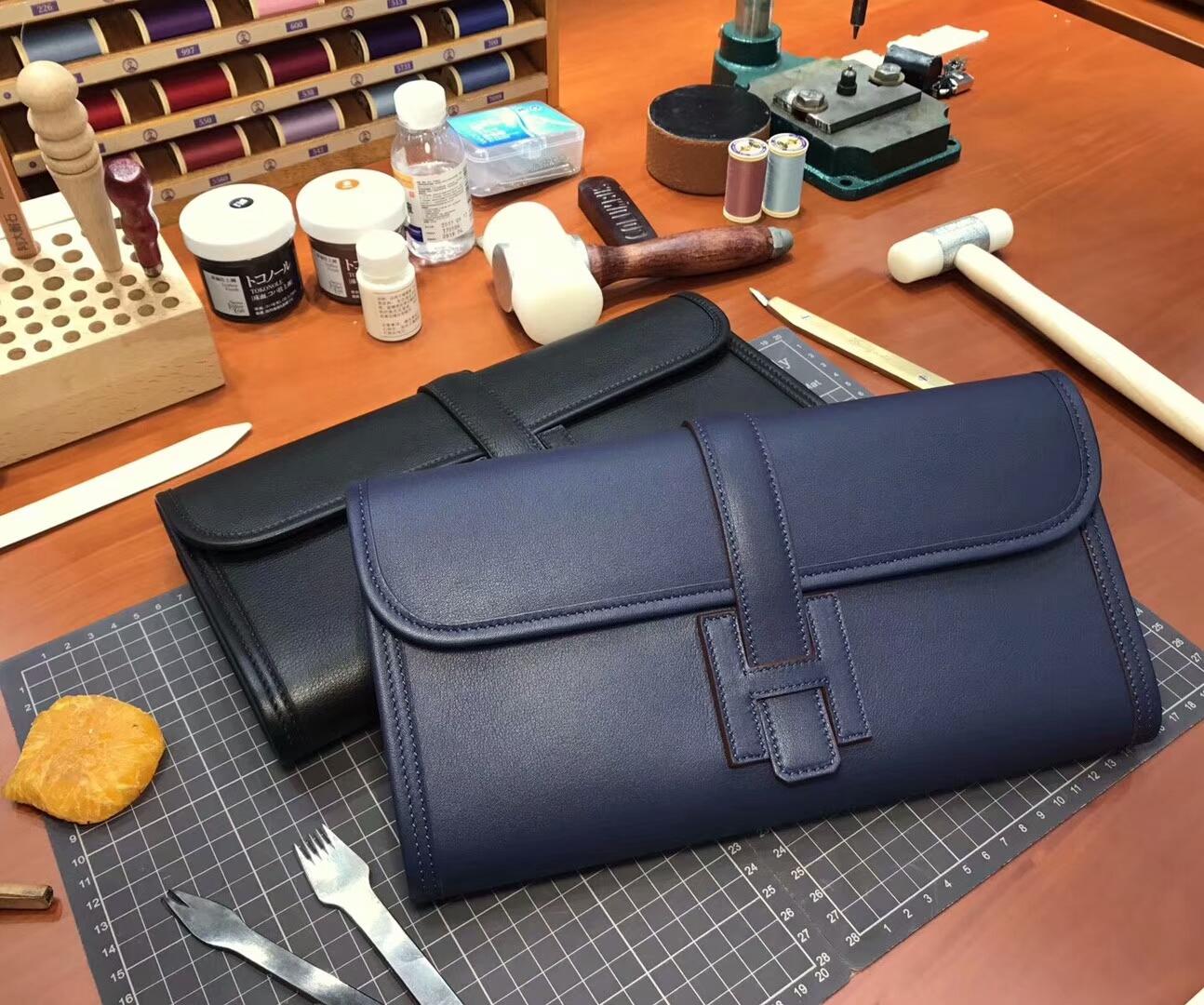 CC73 宝石蓝 Blue Saphir HERMES 爱马仕 手包 配全套专柜原版包装 全球发售