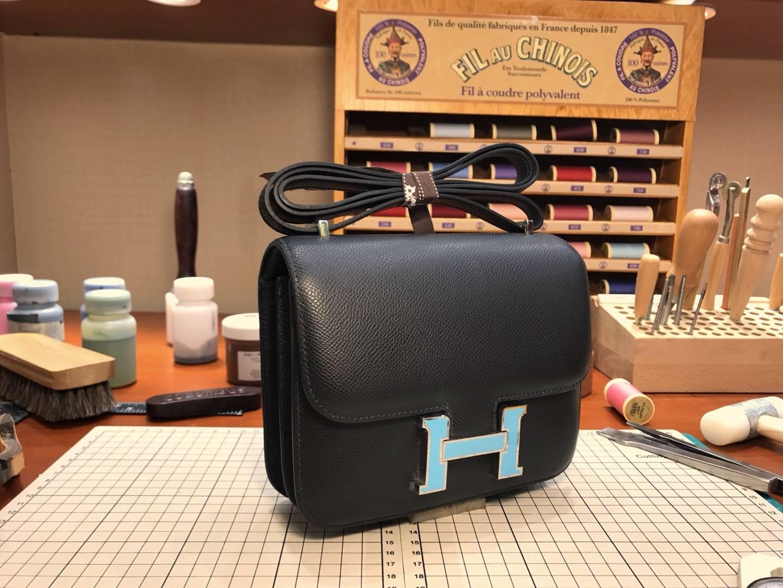 HERMES 爱马仕 空姐包 Constance  BLACK 黑色 配全套专柜原版包装