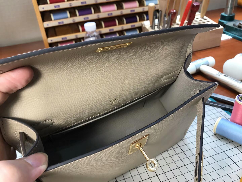 迷你凯莉 MiniKelly HERMES 爱马仕S2风衣灰Trench 配全套专柜原版包装