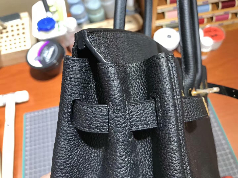 爱马仕 HERMES 铂金包 Birkin 30cm 配全套专柜原版包装 全球发售 BLACK 黑色