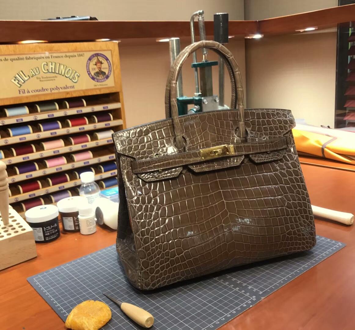 爱马仕 HERMES 铂金包 Birkin 配全套专柜原版包装 全球发售 深啡色 DEEP BROWN
