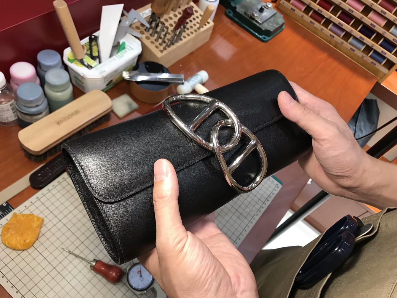 Egee Clutch 猪鼻子手拿包 BLACK 黑色 HERMES 爱马仕 配全套专柜原版包装 全球发售