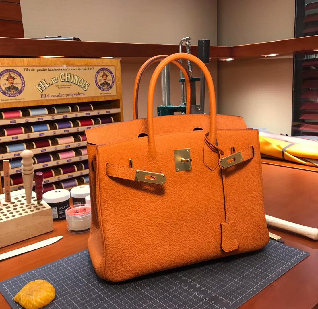 CC93 Orange 橙色 橘色 爱马仕 HERMES 铂金包 Birkin 30cm 配全套专柜原版包装 全球发售