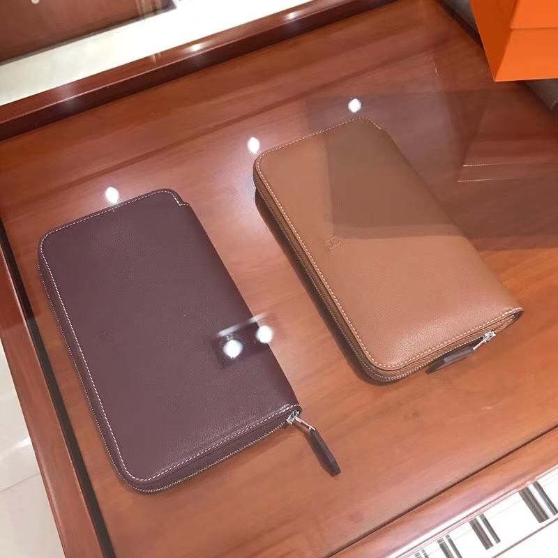 HERMES 长款拉链钱包 b5ruby宝石红/ck37金棕色gold 配全套专柜原版包装