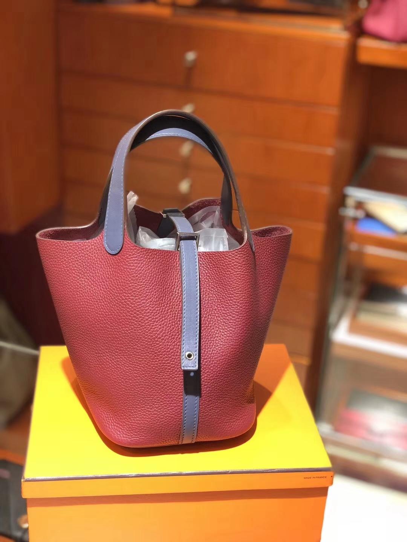 爱马仕 HERMES 菜篮子 Picotin 石榴红 k1 rouge grenat  配全套专柜原版包装 全球发售 Togo皮