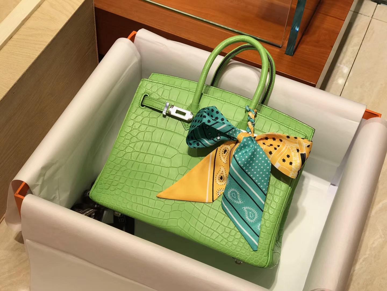 爱马仕 HERMES 铂金包 Birkin 配全套专柜原版包装 全球发售 6R Kiwi 奇异果绿 糖果绿