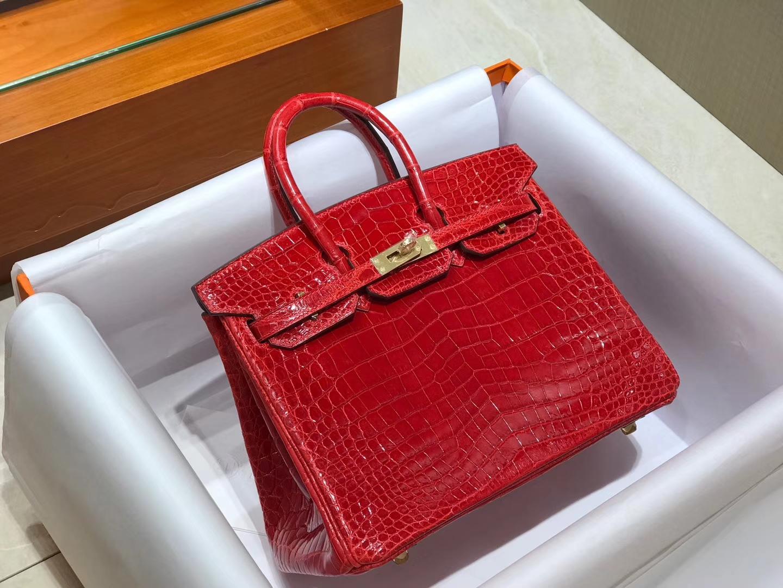 爱马仕 HERMES 铂金包 Birkin 配全套专柜原版包装 全球发售 法拉利红