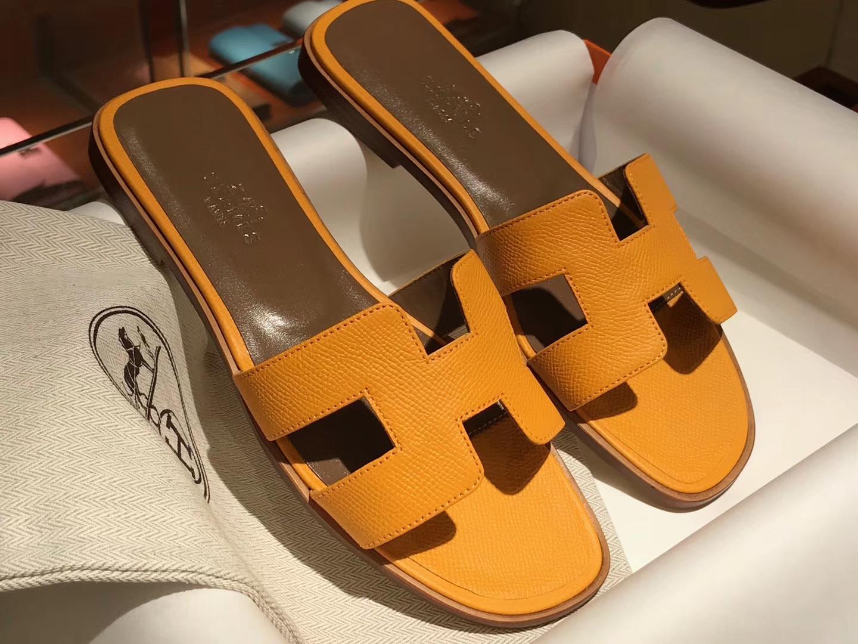 HERMES 爱马仕 H经典款拖鞋高端订制独家品质橙色