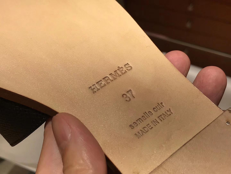 HERMES 爱马仕 H经典款拖鞋高端订制独家品质黑色