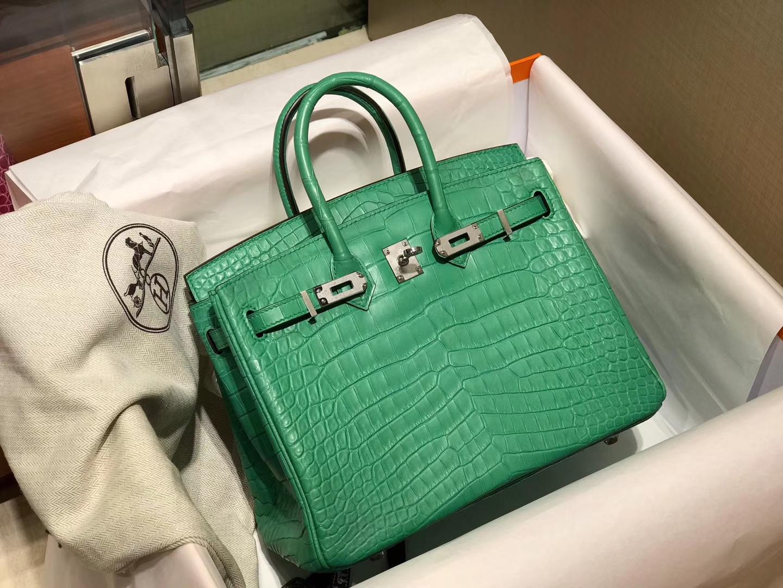 爱马仕 HERMES 铂金包 Birkin 配全套专柜原版包装 全球发售 1K竹子绿 Bamboo