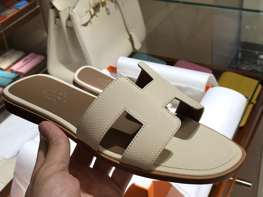 Hermes 经典款拖鞋 高端订制 奶昔白 独家品质