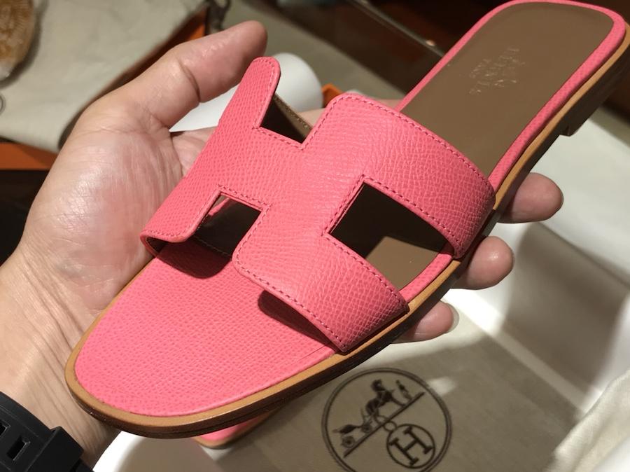 Hermes经典款拖鞋高端订制独家品质 唇膏粉 H女拖