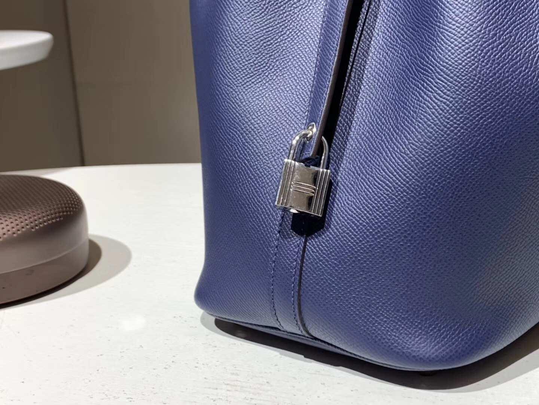 菜篮子 Picotin 编织手柄 宝石蓝 配全套专柜原版包装 纯手工