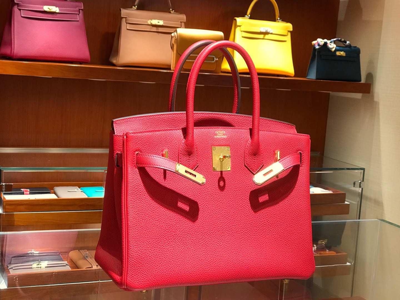 爱马仕 HERMES 铂金包 Birkin 25cm 30cm 国旗红 配全套专柜原版包装 全球发售