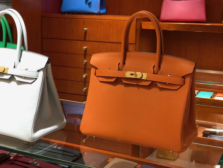 爱马仕 HERMES 铂金包 Birkin 25cm 30cm 橙色 配全套专柜原版包装 全球发售