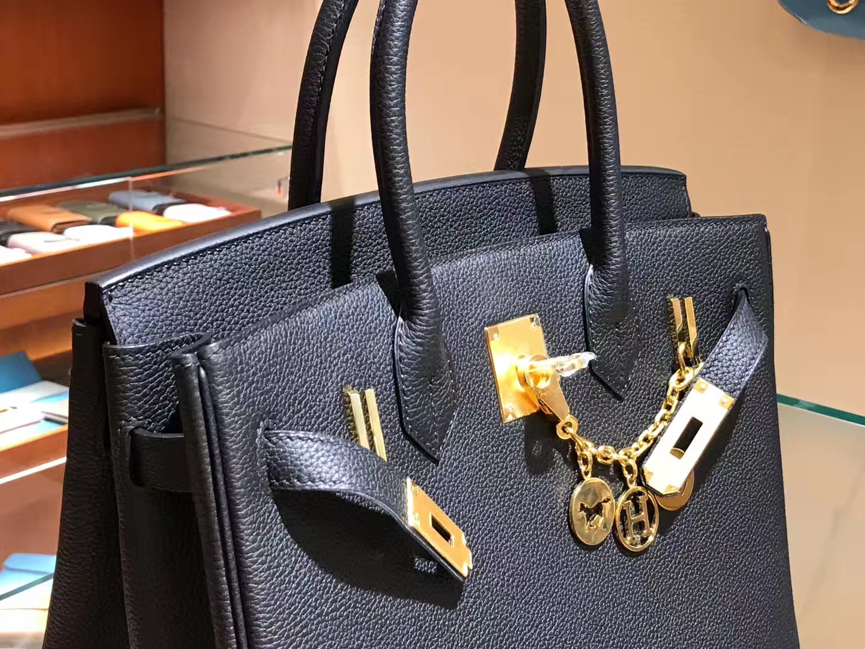 爱马仕 HERMES 铂金包 Birkin 25cm 30cm 黑色 配全套专柜原版包装 全球发售
