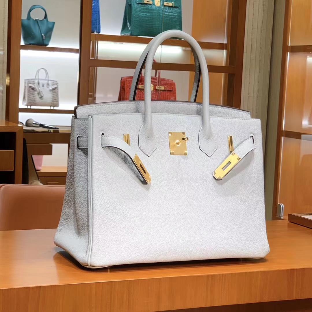 爱马仕 HERMES 铂金包 Birkin 25cm 30cm 白色 配全套专柜原版包装 全球发售