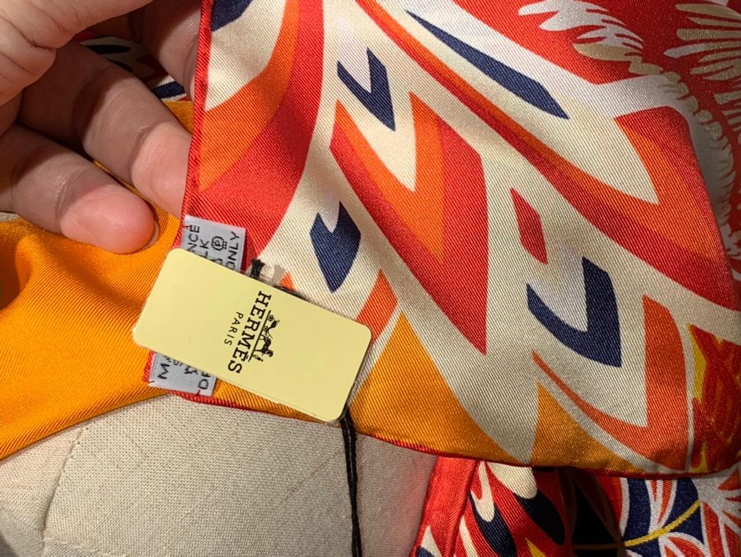 2020春夏· 新款 140cm H 《美惠三女神》橘色 140*140cm 100%斜纹真丝