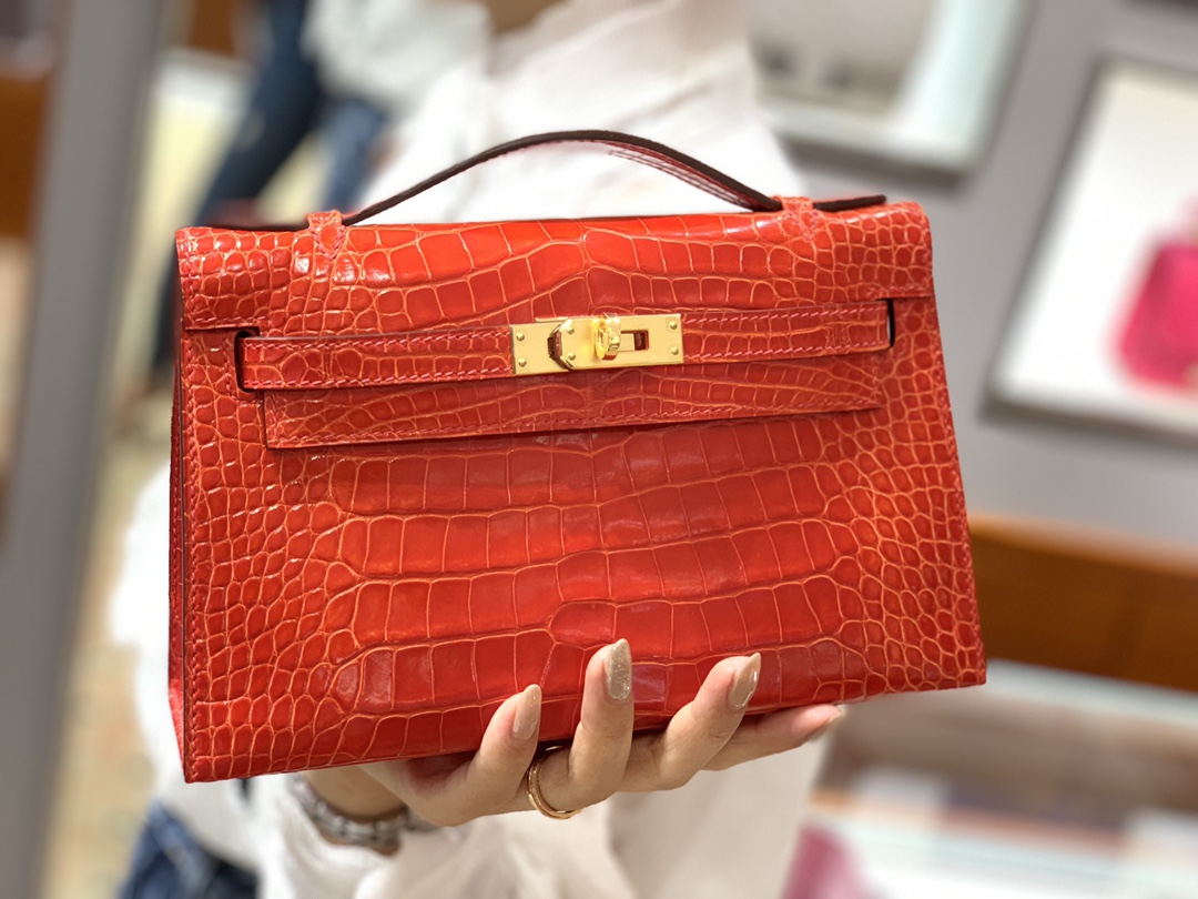 爱马仕中国 Mini Kelly 22cm 法拉利红 现货