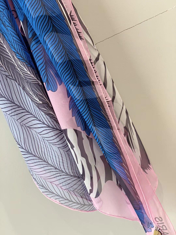H《斑马飞马》 迷人的粉色 140*140cm 100%雪纺真丝