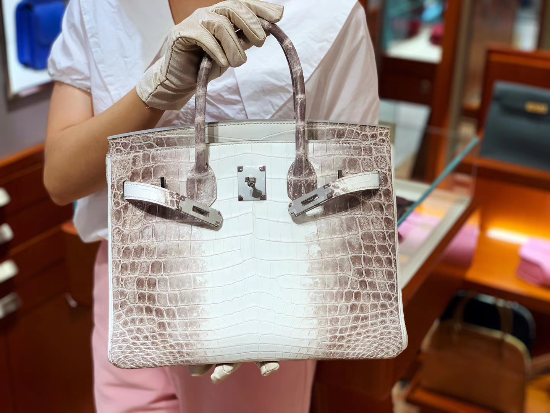 爱马仕包包价格 喜马拉雅 鳄鱼皮 金扣 纹路清晰 手感超级好 完胜正品 Birkin 25/30