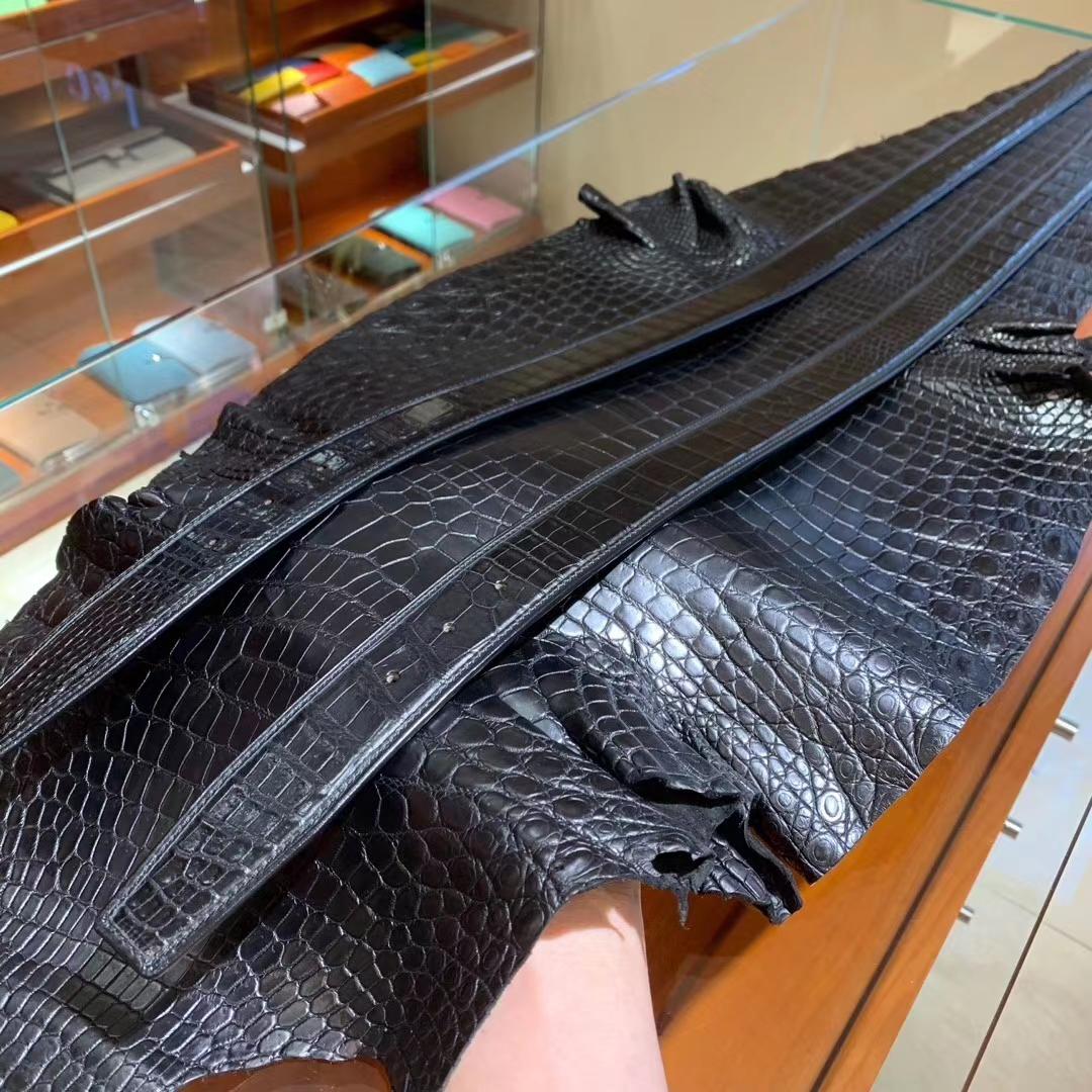 男士鳄鱼皮皮带 一整条不接,一张皮拿来开3条皮带 扣头任意搭配