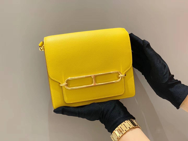 爱马仕广州发货 Roulis18cmEvercolor  9DAmber猪鼻子琥珀黄金扣
