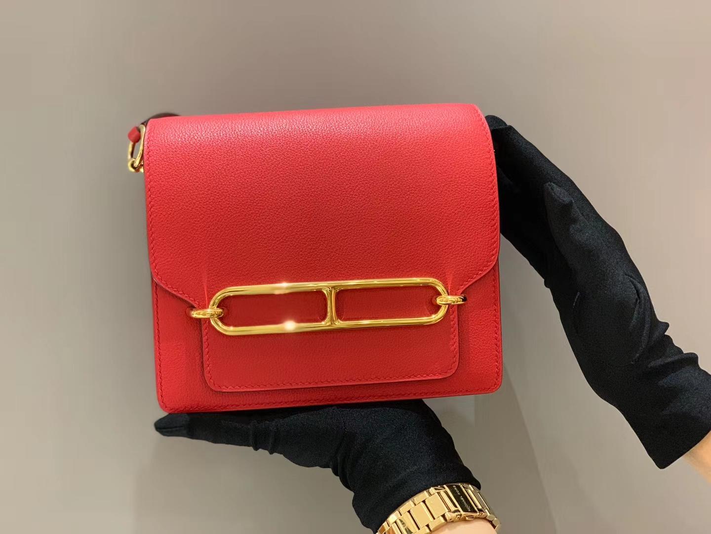 爱马仕香港官网 Roulis18cmEvercolor  Q5—RougeCassaque国旗红 做婚包也可以