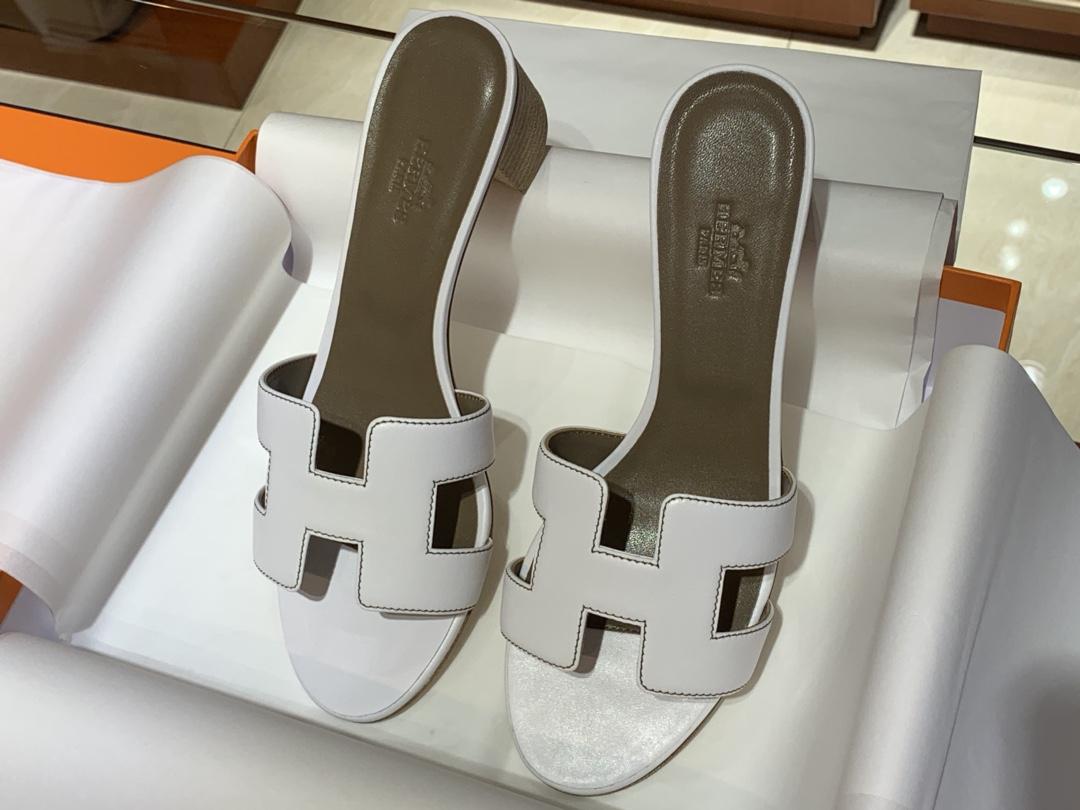H经典款拖鞋高端订制独家品质平底35~41 高跟35~41(跟高4cm) 尺寸同步专柜偏小一码